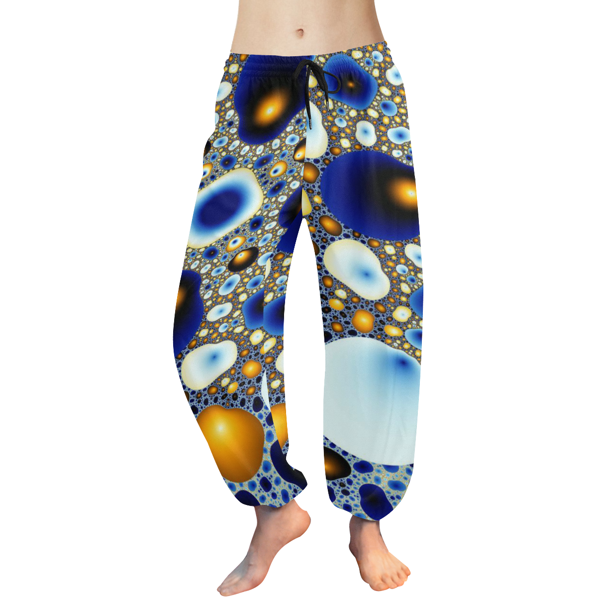 Egg Craters Women's All Over Print Harem Pants (Model L18)
