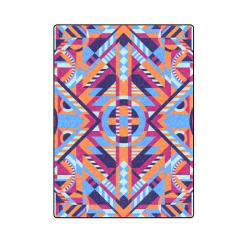 "Modern Geometric Pattern Blanket 58""x80"""