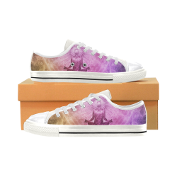 meditation spiritual yoga graphic art Women's Classic Canvas Shoes (Model 018)