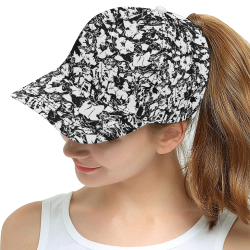 Mid Autumn Leaf Parade - Sketched BW All Over Print Snapback Hat D