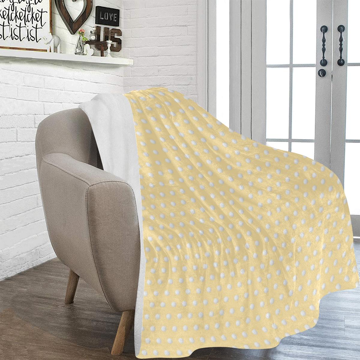 "Polka Dot Pin Pastel Orange - Jera Nour Ultra-Soft Micro Fleece Blanket 60""x80"""