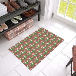 "Toadstool red pattern Azalea Doormat 24"" x 16"" (Sponge Material)"