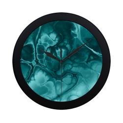 Alien DNA Blue. Circular Plastic Wall clock