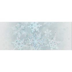 """Snowflakes White and blue, Christmas Gift Wrapping Paper 58""""x 23"""" (1 Roll)"""