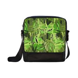 Tropical Jungle Leaves Camouflage Crossbody Nylon Bags (Model 1633)