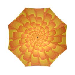 Orange shell spiral Foldable Umbrella (Model U01)