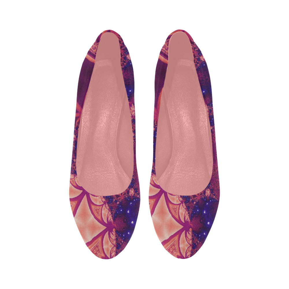 Moonlit Colourful Tropics Women's High Heels (Model 044)
