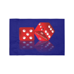 Las Vegas Craps Dice / Blue Motorcycle Flag (Twin Sides)