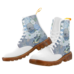 Gothic Skull With Butterfly Martin Boots For Women Model 1203H