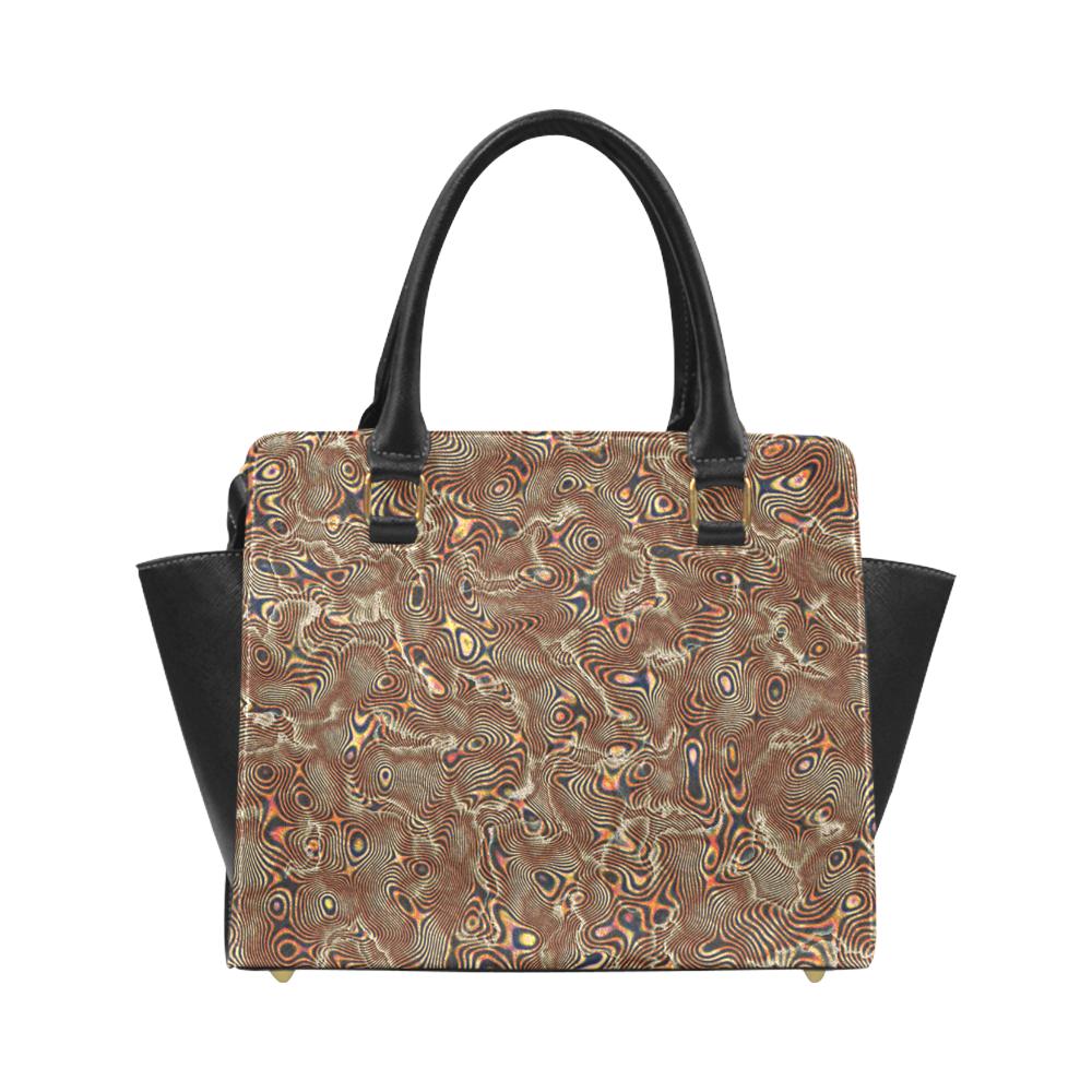 70s chic moire 4 Classic Shoulder Handbag (Model 1653)