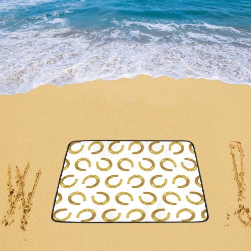 """Golden horseshoe Beach Mat 78""""x 60"""""""