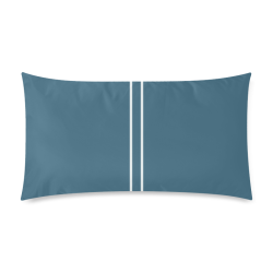 "Chinese Porcelain Blue Stripe Rectangle Pillow Case 20""x36""(Twin Sides)"
