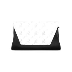 RED QUEEN SYMBOL PATTERN GREY WHITE & BLACK Clutch Bag (Model 1630)