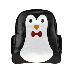 Penguin Kawaii Style Boy Multi-Pockets Backpack (Model 1636)