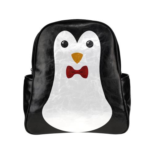 Penguin Kawaii Style Boy Multi-Pockets Backpack (Model 1636)