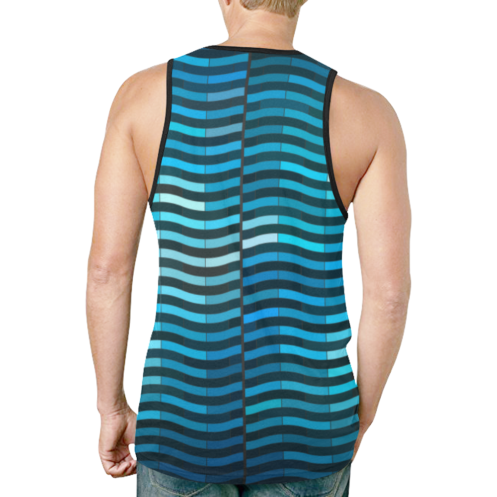 bluewave New All Over Print Tank Top for Men (Model T46)