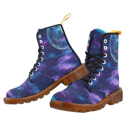 purple blue galaxy Martin Boots For Men Model 1203H