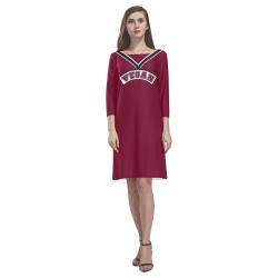 Vegan Cheerleader Rhea Loose Round Neck Dress(Model D22)