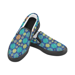 zappwaits 05 - Good afternoon! Women's Slip-on Canvas Shoes (Model 019)