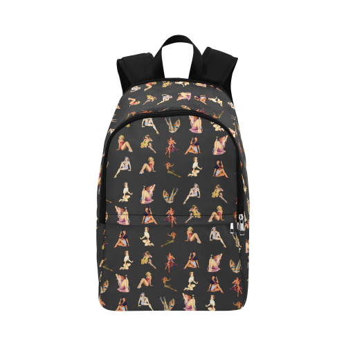 pinup random Fabric Backpack for Adult (Model 1659)