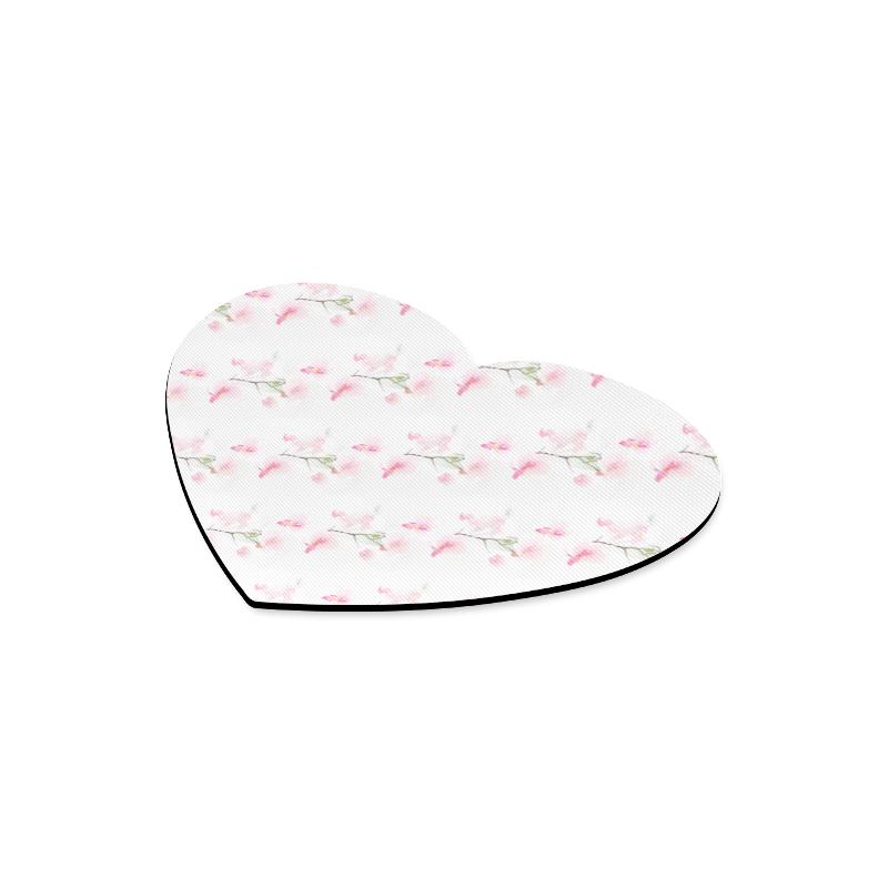 Pattern Orchidées Heart-shaped Mousepad