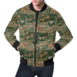 Bones camouflage by Nico Bielow All Over Print Bomber Jacket for Men (Model H19)