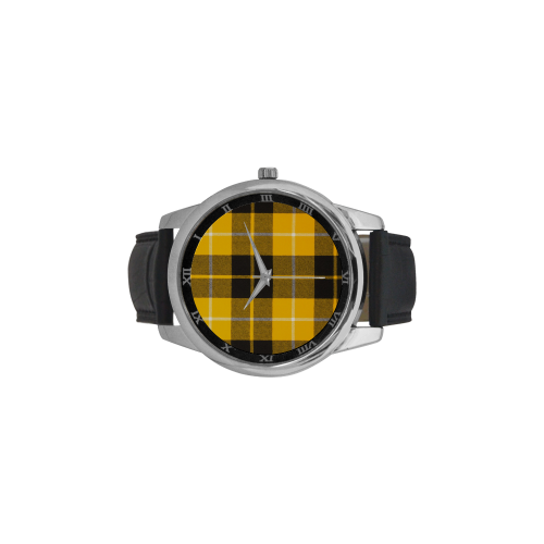 BARCLAY DRESS LIGHT MODERN TARTAN Men's Leather Strap Large Dial Watch(Model 213)