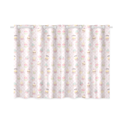 "Cupcakes Kitchen Curtain 26"" X 39"" (Two Piece)"