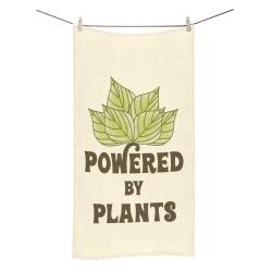 "Powered by Plants (vegan) Bath Towel 30""x56"""