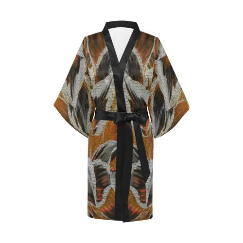 leafs_abstract 23 Kimono Robe