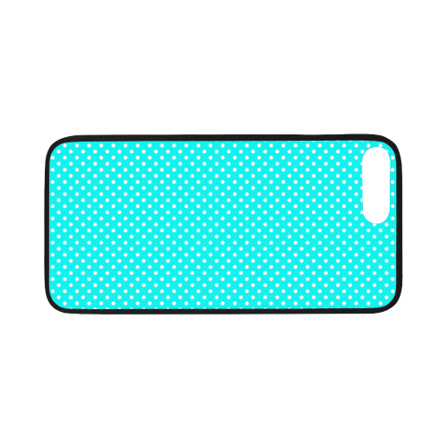 "Baby blue polka dots Rubber Case for iPhone 7 plus (5.5"")"