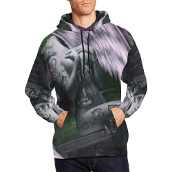 purple angle All Over Print Hoodie for Men/Large Size (USA Size) (Model H13)