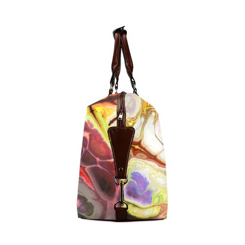 Colorful Marble Design Classic Travel Bag (Model 1643) Remake