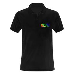 LOVE! - poloshirt Men's Polo Shirt (Model T24)