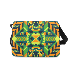 Modern Geometric Pattern Messenger Bag (Model 1628)