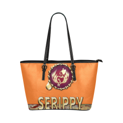 serippy Leather Tote Bag/Large (Model 1651)