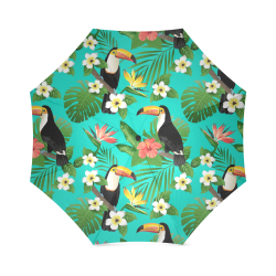 Tropical Summer Toucan Pattern Foldable Umbrella (Model U01)