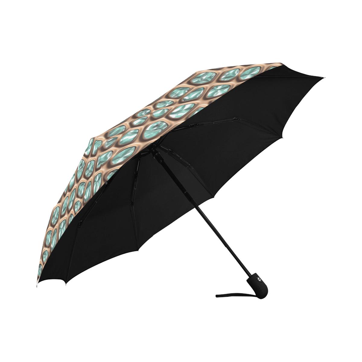 Green crystals Anti-UV Auto-Foldable Umbrella (U09)