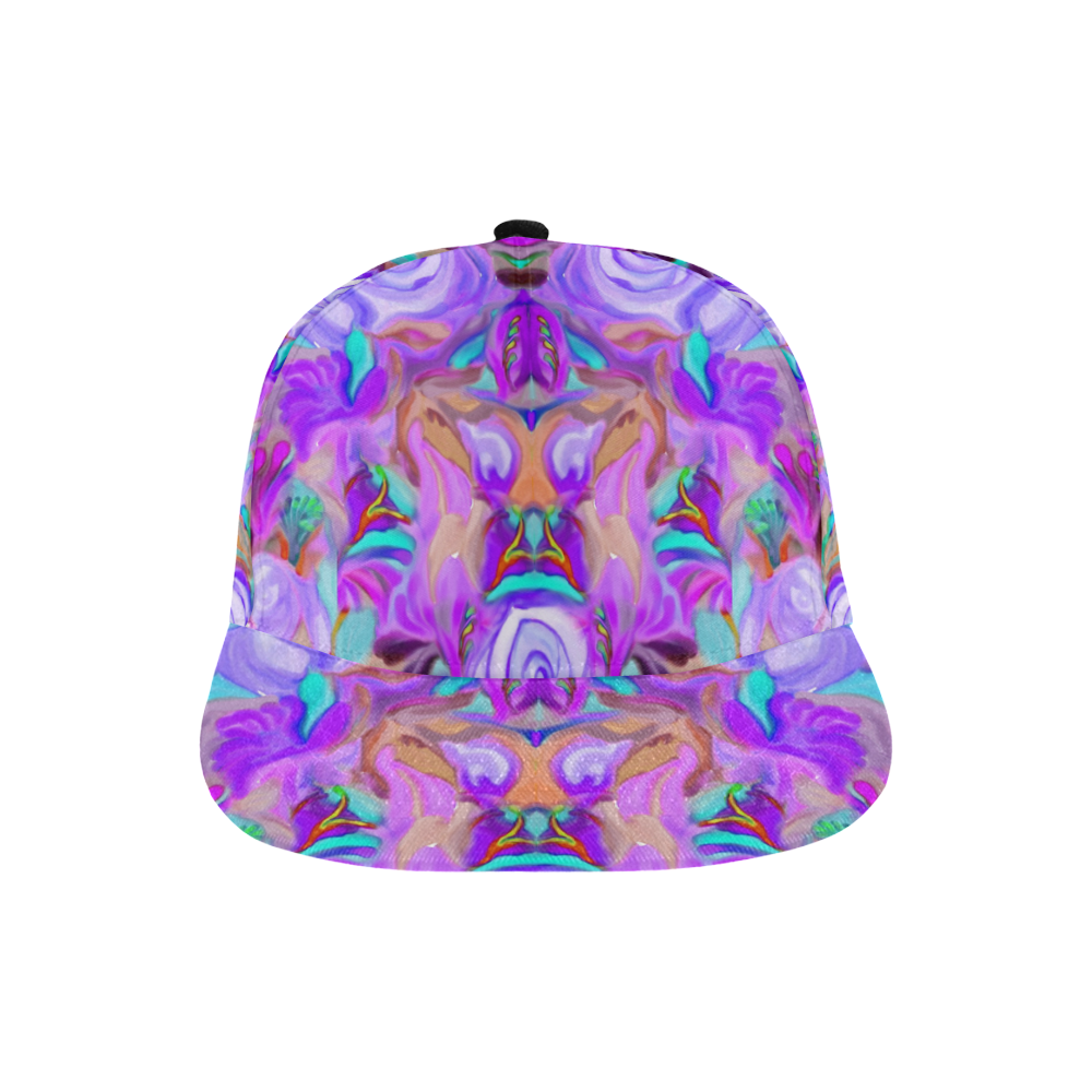 Floral bright colors with frise 6 All Over Print Snapback Hat A