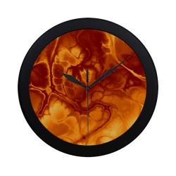 Alien Fire Orange. Circular Plastic Wall clock