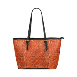 SNAKE LEATHER 4 Leather Tote Bag/Small (Model 1640)