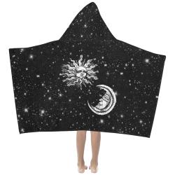Mystic Moon and Sun Kids' Hooded Bath Towels