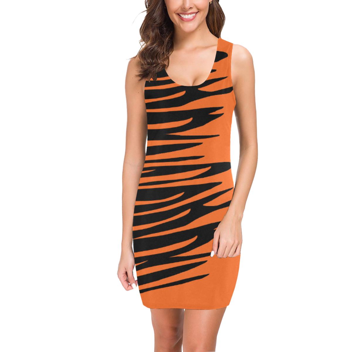 Tiger Stripes Halloween Medea Vest Dress (Model D06)