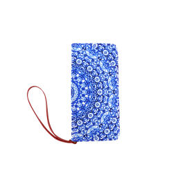 Blue Mandala Mehndi Style G403 Women's Clutch Wallet (Model 1637)
