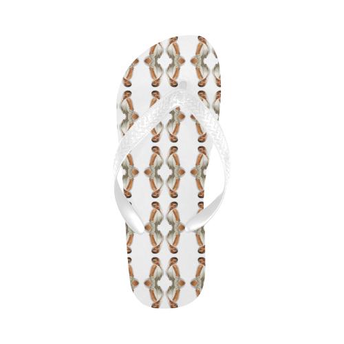 kylie pattern 1a Flip Flops for Men/Women (Model 040)