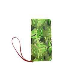 Tropical Jungle Leaves Camouflage Women's Clutch Wallet (Model 1637)