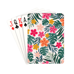 """Pretty Tropical Floral Playing Cards Playing Cards 2.5""""x3.5"""""""