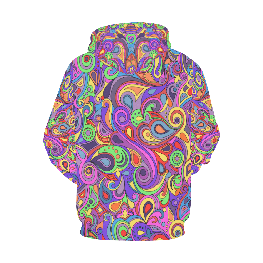Psychedelic Hippy Doodle by ArtformDesigns All Over Print Hoodie for Women (USA Size) (Model H13)
