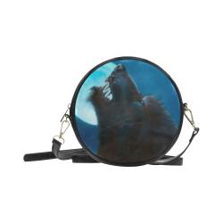Moon Werewolf Gothic Darkstar Round Sling Bag (Model 1647)