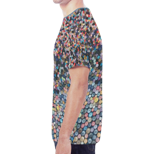 buttons New All Over Print T-shirt for Men (Model T45)